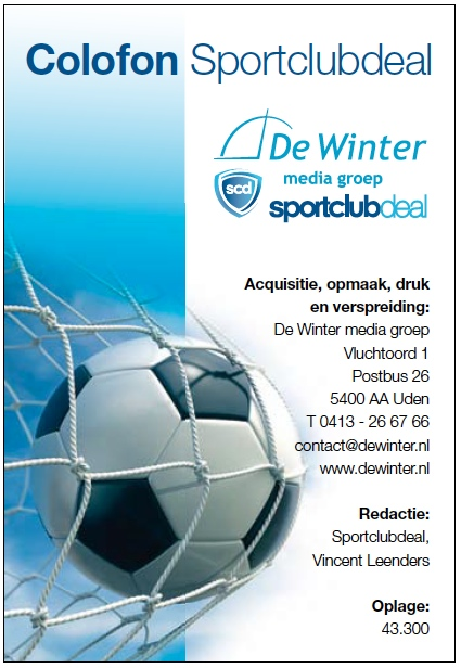 Colofon Sportclubdeal