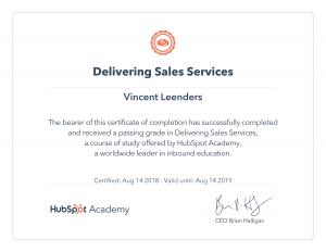 Delivering Sales Services