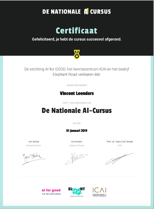 De Nationale AI-Cursus