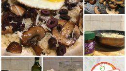Bloemkoolrijst met champignons